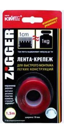 Лента-Крепеж ZIGGER 19 мм.х1,5м прозрачная 03-06-01