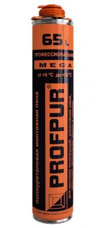 Пена монтажная PROFPUR mega профессиональная 870 мл (выход до 65 л) 01-02-15