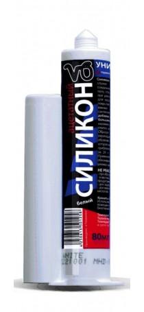 Клей Герметик V6 силикон белый 80мл. 02-01-01