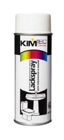 Краска-спрей KIM TEC для керамики и эмали 400 мл белая 11-01-15