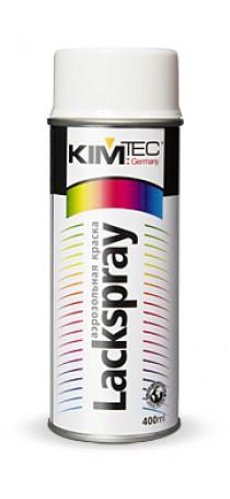 Краска-спрей аэрозольная KIM TEC 400 мл глянцевая белая 11-01-01