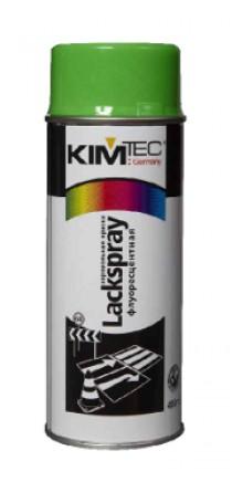 Краска-спрей аэрозольная KIM TEC флуоресцентная 400 мл зеленая 11-01-18