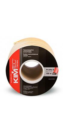 Уплотнитель KIM TEC D-профиль 100 м (9 мм х 8 мм) белый (50 х 2) п/м 04-14-03