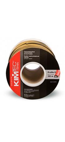 Уплотнитель KIM TEC D-профиль 100 м (9 мм x 8 мм)  черный (50х2) п/м 04-14-41