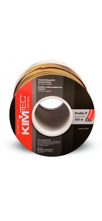 Уплотнитель KIM TEC P-профиль 100 м (9 мм x 5 мм) коричневый (50х2) п/м 04-14-06