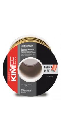 Уплотнитель KIM TEC промышленный D-профиль 50 м (10 мм х 12 мм) п/м чёрный 04-14-56