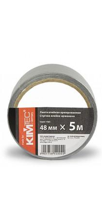 Лента KIM TEC армированная клейкая 48 мм x 5 м серая 08-06-31