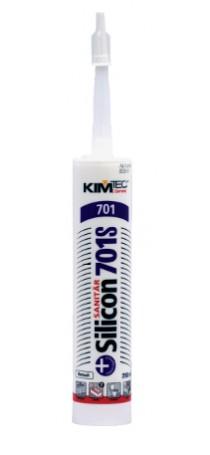 Герметик силиконовый KIM TEC Silicon Sanitar 701S санитарный 310 мл белый 02-01-51
